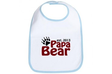 Papa Bear Claw Est 2013 Family Bib by CafePress