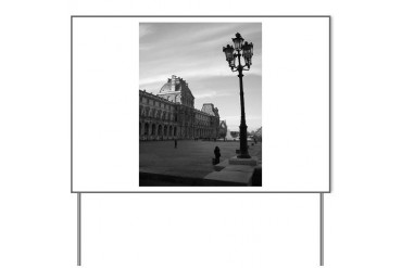 Paris Art Yard Sign by CafePress