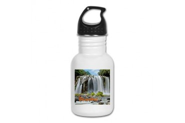 Reunion Travel Kid's Water Bottle by CafePress