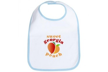 Sweet Georgia Peach Retro Bib by CafePress