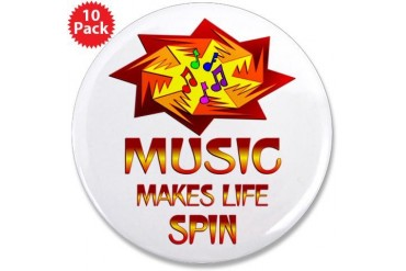 Music Spins Music 3.5 Button 10 pack by CafePress