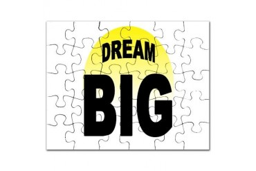 DREAM BIG Military Puzzle by CafePress