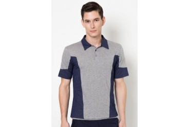 (X) S.M.L Contrast Prints Polo Shirt