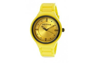 Yellow Swiss Quartz Movement Watch