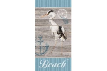 Beach Heron Poster Print by Sam Appleman (10 x 20)
