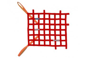 Sparco Red Racing Window Net