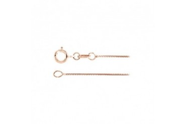 0.50mm 18K Rose Gold Box Chain Necklace