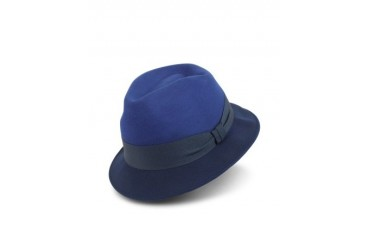 Men's Blue Dip-Dyed Trilby Hat