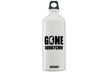 Gone sqautchin Funny Sigg Water Bottle 1.0L by CafePress