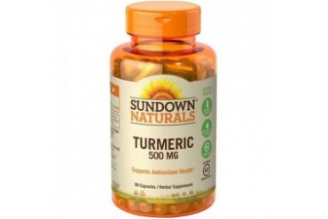 Sundown Naturals Turmeric Herbal Supplement Capsules