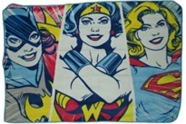 DC Comics Heroine Trio Batgirl Wonder Woman Supergirl Fleece Throw Blanket