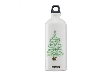 Oh holy night tree Jesus Sigg Water Bottle 0.6L by CafePress