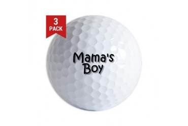 mama boy.jpg Funny Golf Balls by CafePress