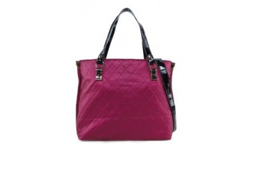 Tagg Checked Textured Tote Bag