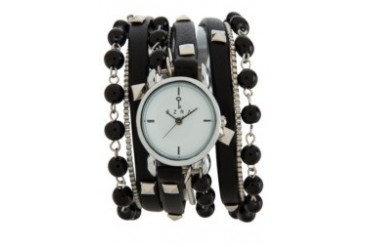 EZRA by ZALORA Studded Wrap Watch with Pearls