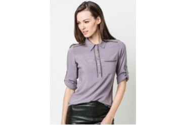 Quarter Sleeves Collared Blouse