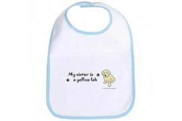yellow lab gifts Bib