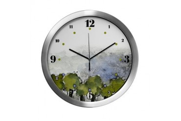 As Above So Below 5 with hours Art Modern Wall Clock by CafePress