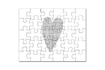 Black and white Puzzle by CafePress