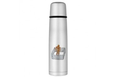 Isolated in White Picket Fence Large Thermos Bottl White Large Thermosreg; Bottle by CafePress