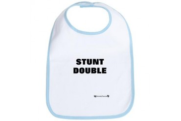 Twins - Stunt Double Baby Bib by CafePress