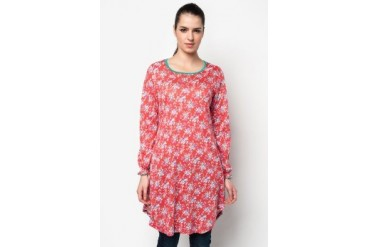 Aqeela Muslimah Wear Blouse With Blossom Prints