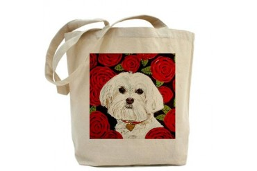 Maltese Valentine Pets Tote Bag by CafePress