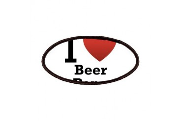 i-love-beer-pong-light.png Humor Patches by CafePress