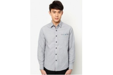 Long Sleeve Shirt With Contrast Placket