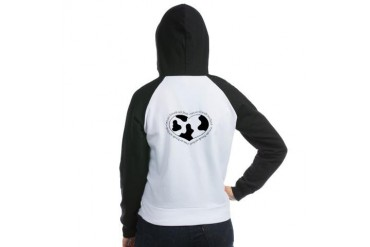 Cow Print Heart Food Women's Raglan Hoodie by CafePress