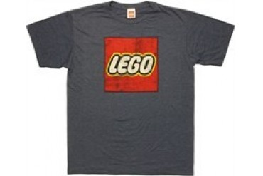 Lego Distressed Logo On Navy Heather T-Shirt Sheer