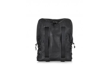 Roland Black Leather Backpack