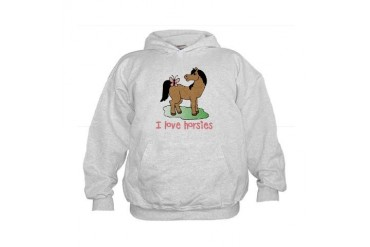 Cute horse lover girls Kids Hoodie