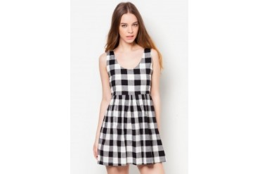Something Borrowed Checkered Dress