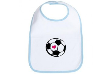 Soccer Heart Sports Bib by CafePress