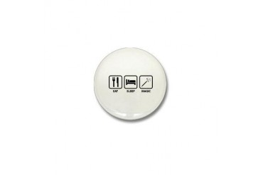 Eat Sleep Magic Funny Mini Button by CafePress