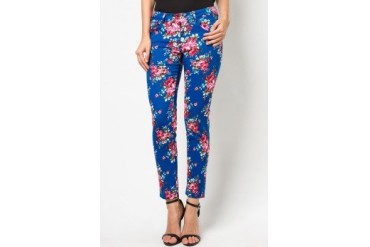 CLUB ZEN Jeggings with Pink Floral Print
