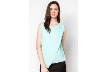 DressingPaula Wrap Sleeveless Top