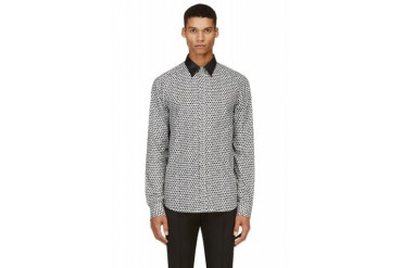 Costume National Black And Grey Ink Spot Shirt
