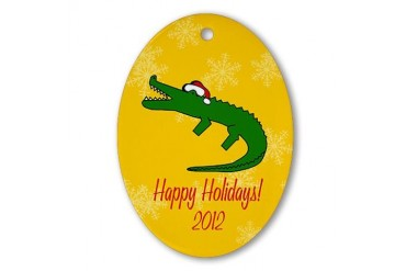 Ornament Oval Holiday Oval Ornament by CafePress