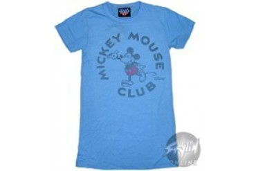 Disney Mickey Mouse Club Blue Baby Doll Tee by JUNK FOOD