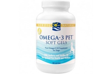 Nordic Naturals Omega-3 Pet Soft Gels Dogs 180ct Fatty Acids EPA DHA Joint