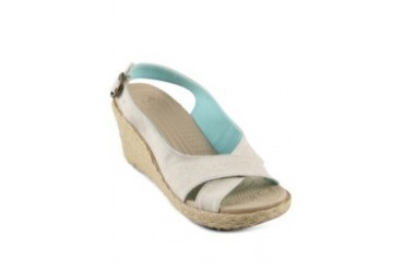 Crocs A-Leigh Linen Wedge Women
