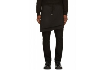 D.gnak By Kang.d Black Skirt Panel Trousers