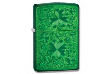 "Zippo ""Meadow"" Lighter with Green Iced Finish"
