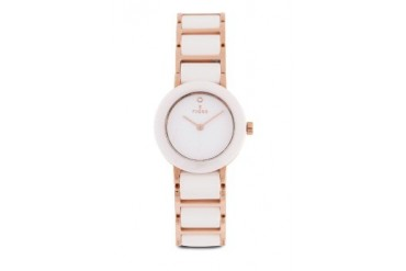 Fjord Celilia FJ-6004-44 White/Rose Gold Ceramic Bracelet Watch