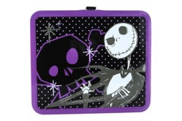 Disney Nightmare Before Christmas Jack Skellington Purple Trim Metal Lunch Box