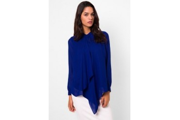 (X) S.M.L Double Drape Shirt