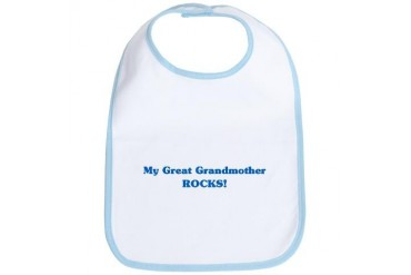 Great Grandmother Rocks Family Bib by CafePress