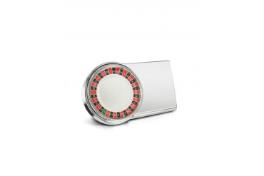 Silver Plated Mini Travel Roulette Wheel